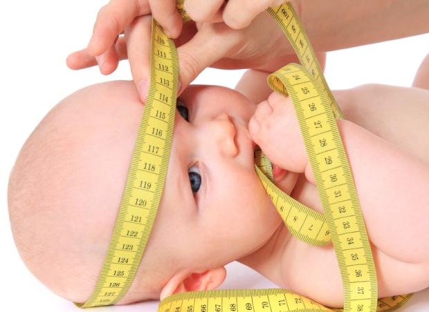 Vermessen der Kopfgre eines Babys
